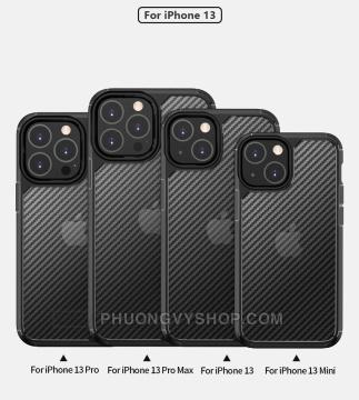 Ốp chống sốc iPhone 13 Promax - LIKGUS vân carbon